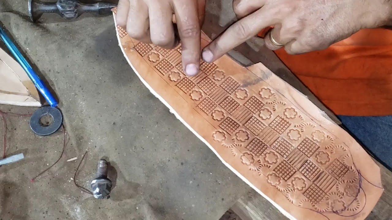 Bainha de couro modelo SIMPLES( parte2)