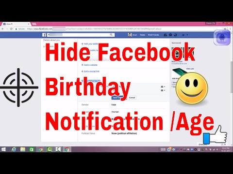 Hide my year of birth on facebook