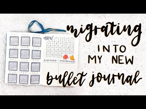 migrating into a new bullet journal || my third journal