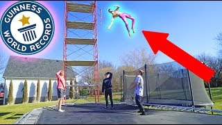 BREAKING INSANE TRAMPOLINE WORLD RECORDS!!