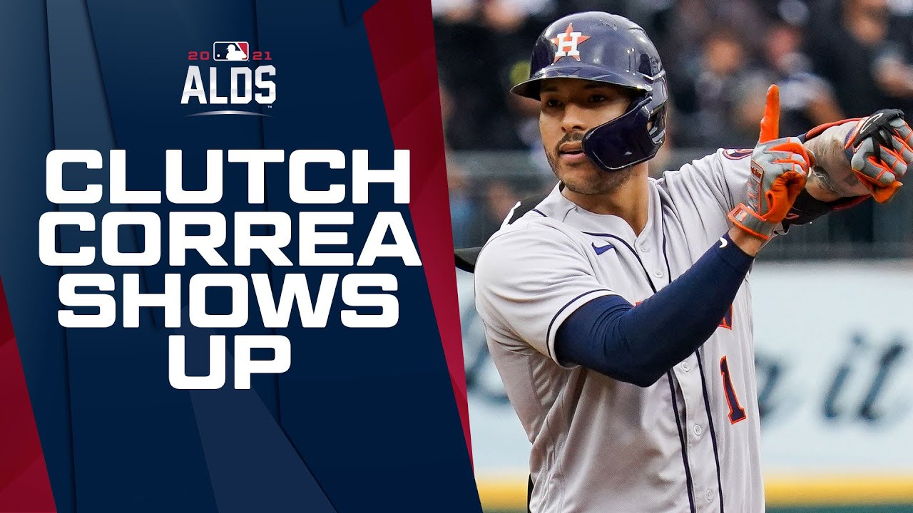CORREA COMIN THROUGH! Carlos Correa puts Astros up in ALDS Game 4 with 2-run double!