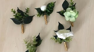 DIY: How to Mąke a Boutonniere Out of Fake Flowers (Very Real Looking)