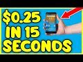 Get Paid $0.25 In 15 SECONDS (FREE PayPal Money App)