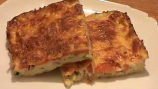 Диетическая пицца из кабачков.