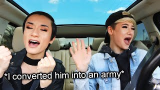 I forced my bestfriend into listening to BTS for the first time in the car