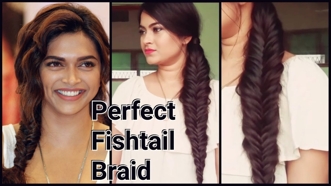back to school hairstyles-fishtail braid//hairstyles for medium to long  hair/indian hairstyles