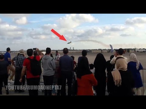 Iran Airshow 2018: Insane Low Flying Jet - Iran International Airshow 2018