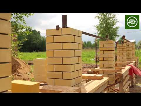 Строительство забора с кирпичными столбами | Строительство домов в Перми | СК Апрель