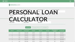 Loan Calculator For Personal Loans | Personal Loan Payments