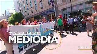 Protestan contra las redadas de ICE en varios puntos del país | Noticias Telemundo