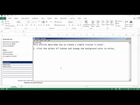 Simple Invoice In Excel Tagged Videos On TrendyVids - Create invoice in excel