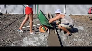 Строим гараж с навесом. Часть 3. Фундамент под навес.