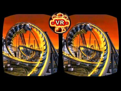 VR Roller Coaster 3D VR Video 3D SBS Split Sceeen for Google Cardboard VR BOX 3D not 360 VR