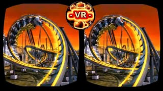 VR Roller Coaster 3D VR Video 3D SBS for Google Cardboard VR BOX 3D not 360 VR