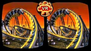 🔴 VR Roller Coaster 3D VR Video 3D SBS Split Screen for Google Cardboard VR BOX 3D not 360 VR