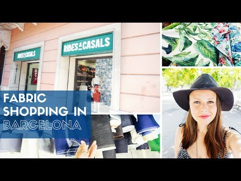 Everything started nice in Ribes & Casals ✁ FABRIC SHOPPING IN BARCELONA ✁ Part 1 // Valeria Speck
