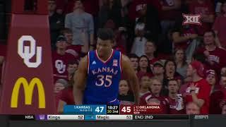 Kansas at Oklahoma Men's Basketball Highlights