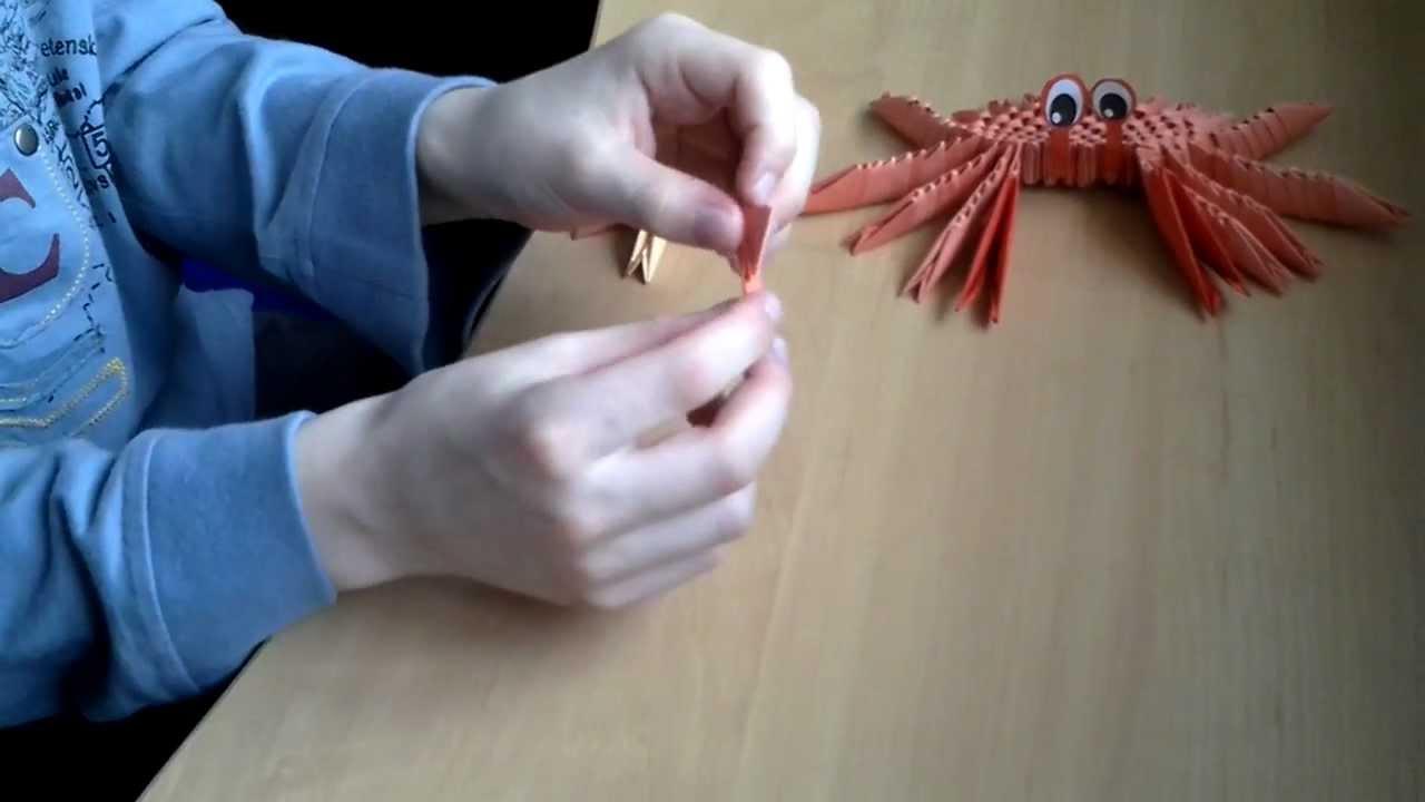 модульное оригами пальма схема сборки
