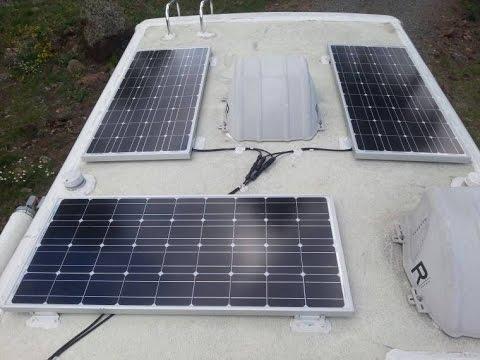 Solar Panels Rv Roof Setup Youtube