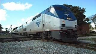 Amtrak Train Silver Star Loses Brake Shoe Going Thru Diamond Crossing