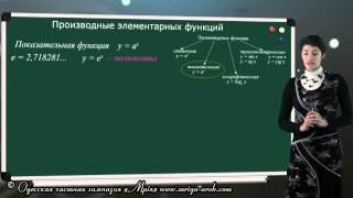 Производные элементарных функций