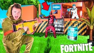 Fortnite BOX FORT Vs DEADPOOL! Breaking Into DeadPools Vault - Nerf Battle IRL