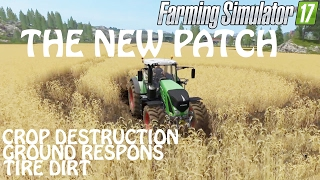 THE NEW UPDATE in Farming Simulator 2017 | Crop Destruction & Tire Dirt | PS4 | Xbox One