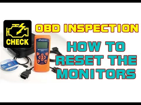 OBD Inspection - ALL VEHICLES - Reset The Monitors Using The Actron CP9135