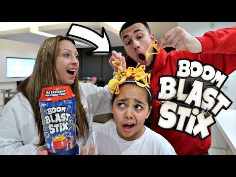 BOOM BLAST STIX! Toy Challenge - Family Fun Games