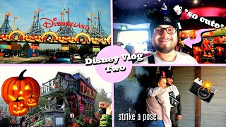 DisneyVlog2 - Part 1 | GOING TO THE DISNEYLAND PARK! HALLOWEEN PARADE! ...AND LITTLE PHOTOSHOOT