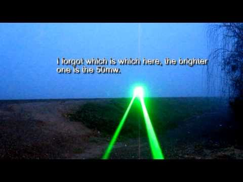 5mw vs 50mw vs cheap red laser {HD}