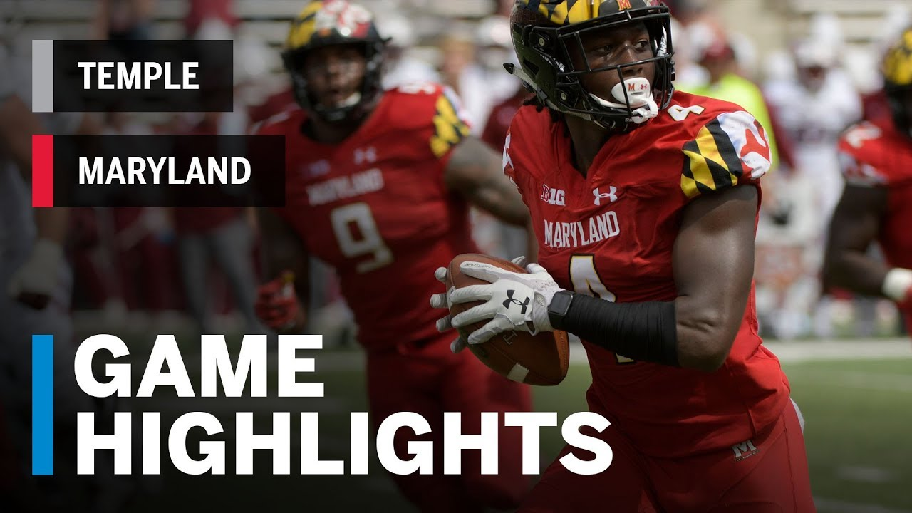 Highlights: Temple at Maryland | Big Ten Football