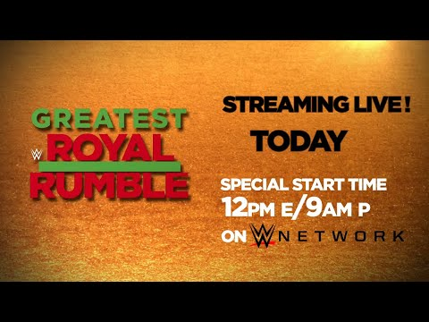 Don't miss the Greatest Royal Rumble event from Saudi Arabia today