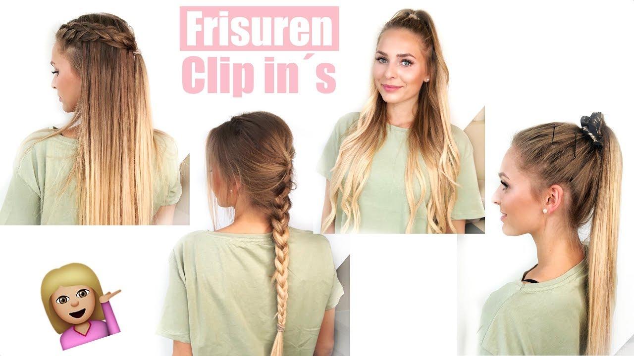 11 Frisuren mit Clip in Extensions und kurzen Haaren !!
