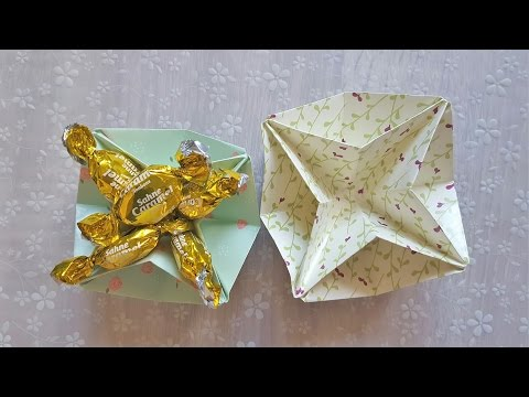 Einfache Origami Sternschale