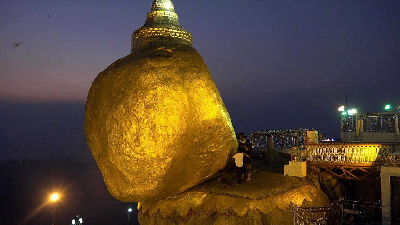 Golden Rock, Myanmar in 4K (Ultra HD)