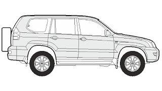 How to Draw a Toyota Land Cruiser / Как нарисовать Toyota Land Cruiser