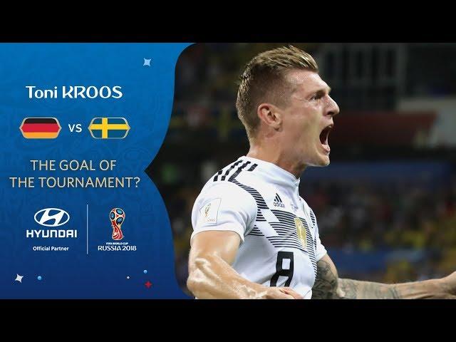 Toni KROOS free-kick vs Sweden   2018 FIFA World Cup   Hyundai Goal of the Tournament Nominee