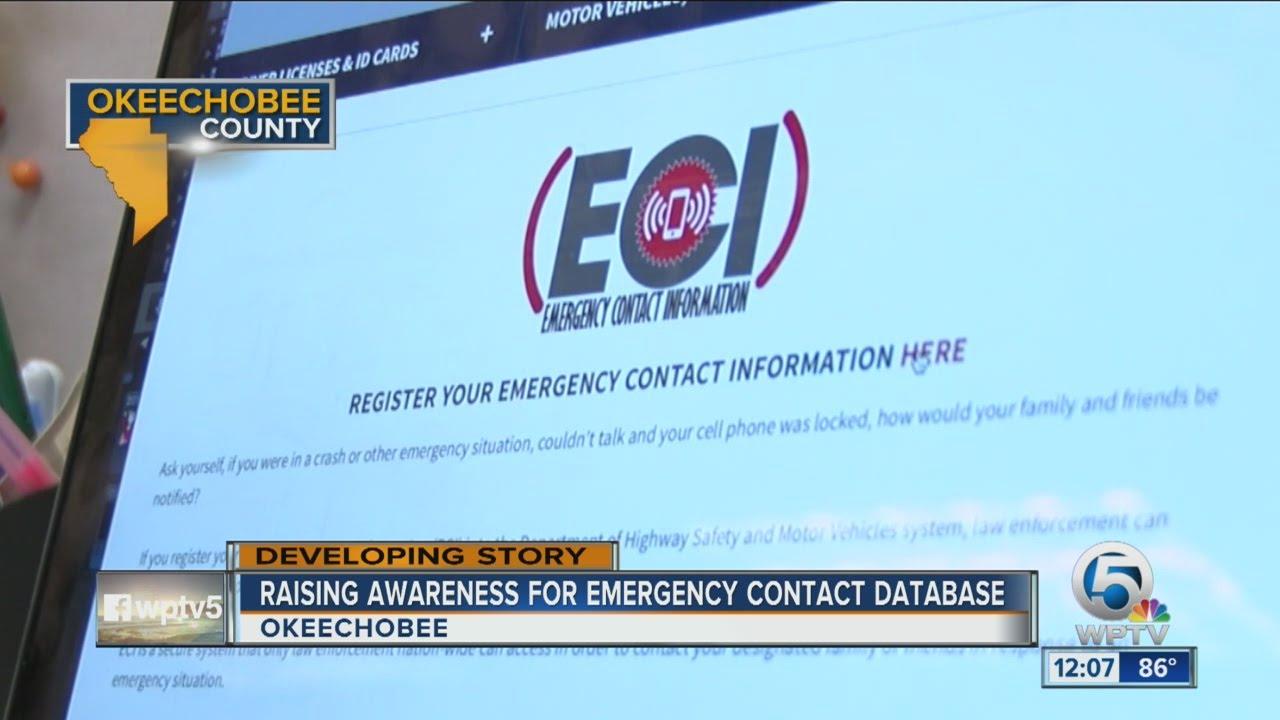 raising awareness for emergency contact database youtube
