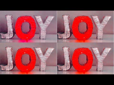 3D LED letters   Joy Christmas sign   Christmas DIY 2019 🎄