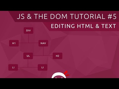 JavaScript DOM Tutorial #5 - Changing Text & HTML Content