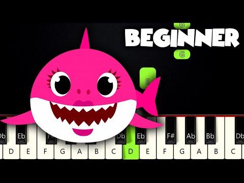 Baby Shark Song | BEGINNER PIANO TUTORIAL + SHEET MUSIC by Betacustic