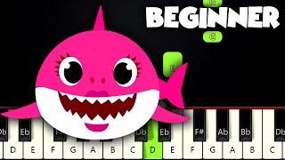 Baby Shark Song   BEGINNER PIANO TUTORIAL + SHEET MUSIC by Betacustic