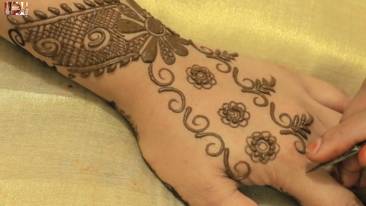 Stylist Arabic Henna Mehndi Patterns HandsBeautiful Easy DIY Mehendi By  MehndiArtistica Collection