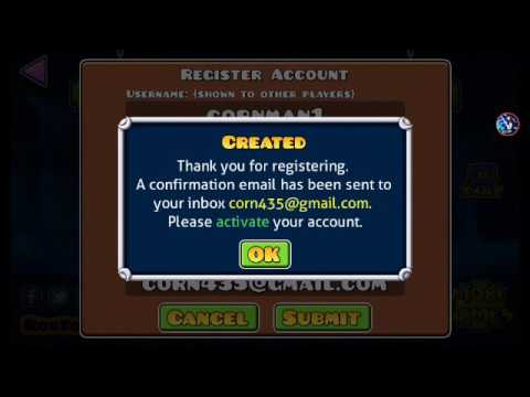To Register A Random Account On Geometry Dash