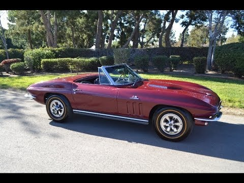SOLD 1965 Chevrolet Corvette 396/425hp Convertible Milano Maroon for sale by Corvette Mike