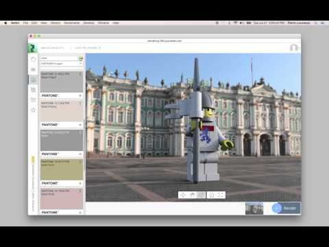 Color workflow in A360 Interactive Rendering