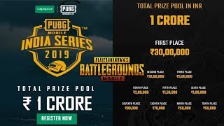 1 Crore Prize Money For All PUBG Players   Pubg Mobile Official Tournament in India