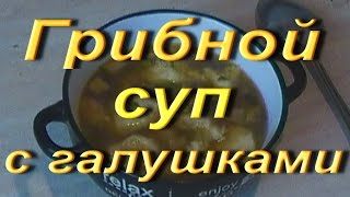 ГОТОВИМ грибной суп с галушками.