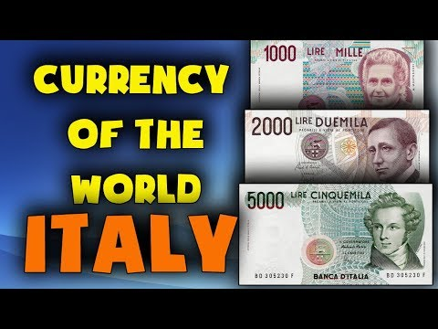 Currency Of Italy.PRE-EURO. Italian Lira. Italian Currency